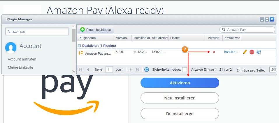 Dokumentation Amazon Pay für Shopware - Amazon Pay